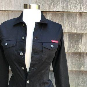 NWT Dickies Girl Stretchy Black Button Work Shirt